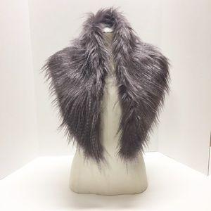 St. Tropez West Faux Fur Collar Stole Scarf